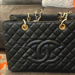 Classic Black Chanel purse  13 1/2 x 9